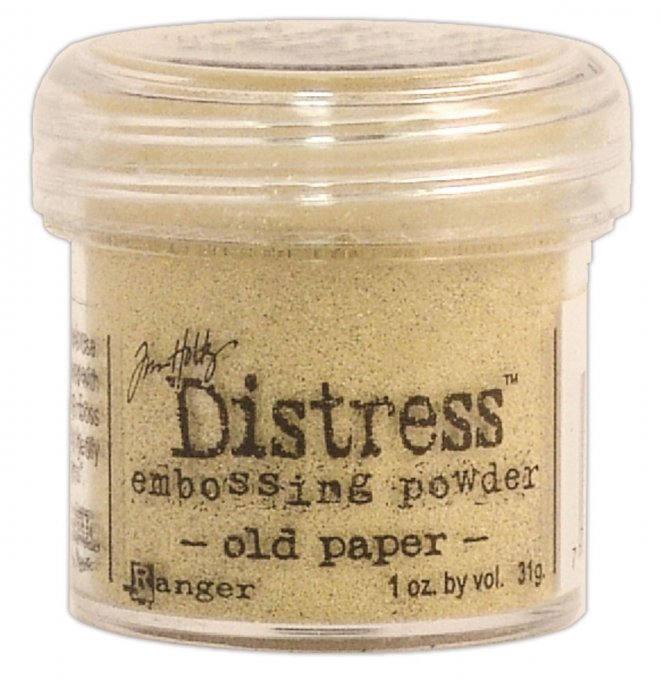 Distress Embossing powder, Tim Holtz, couleur : old paper (31g)