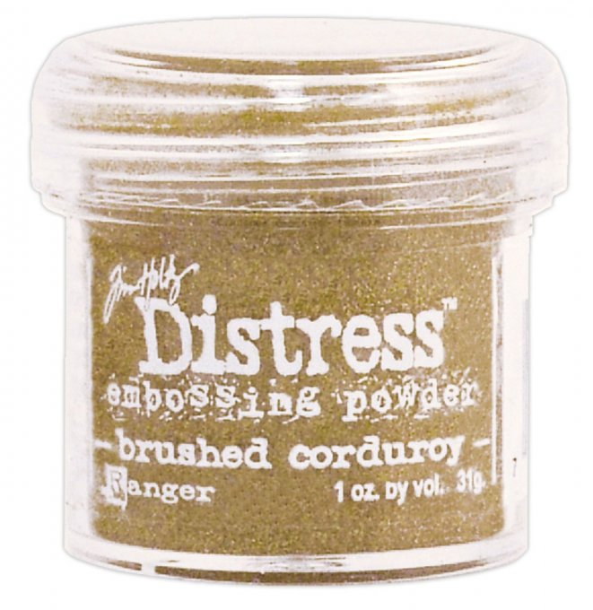 Distress Embossing powder, Tim Holtz, couleur : Brushed corduroy (31g)