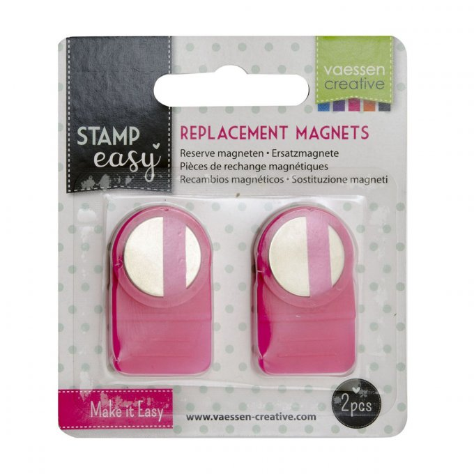 2 aimants de rechange pour Easy stamp, presse à tampon