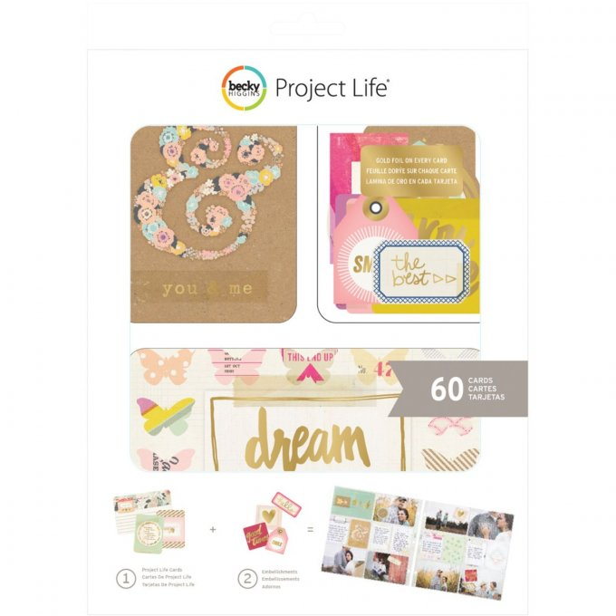 130 pièces pour Project Life, Becky higgins - kit notes & things