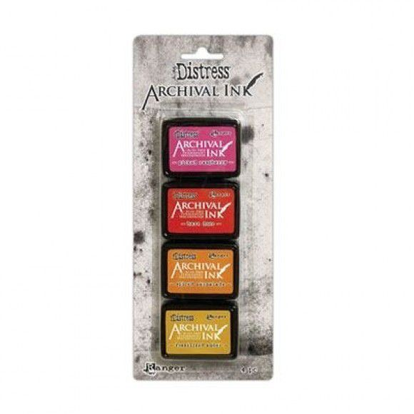 Archival Ink, Tim Holtz, Kit 1, (4 couleurs)