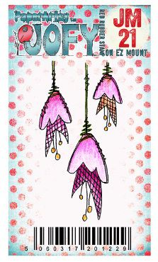 Mini tampon caoutchouc, collection Jofy (21), PaperArtsy