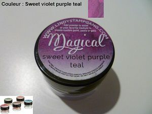Pigment Magical, Lindy's, couleur Sweet violet purple teal