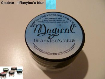 Pigment Magical, Lindy's, couleur Tiffanylou's blue