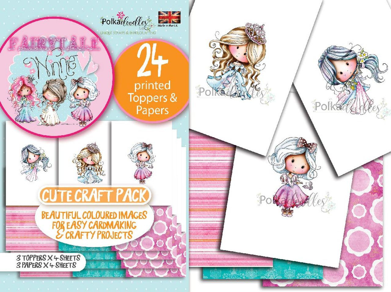 Toppers,  Polkadoodles, Fairytale, Winnie & Friends - format A6