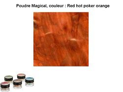 Pigment Magical, Lindy's, couleur Red hot poker orange