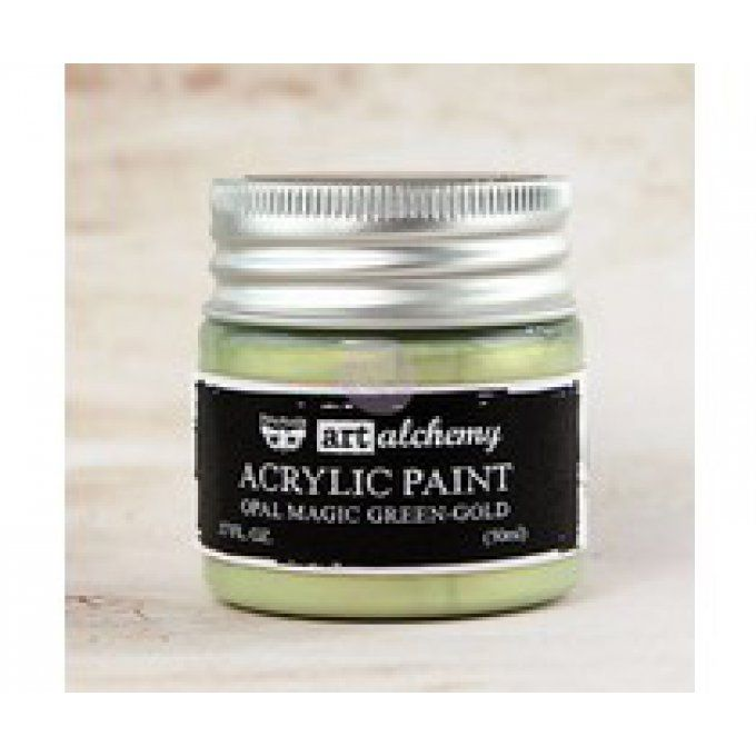 Art alchemy, peinture acrylique, Opal magic, gamme pastel, green gold, 50ml