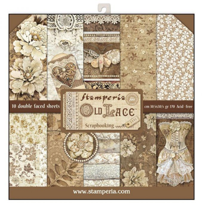 Papier scrapbooking, 30.5x30.5cm, Old Lace, Stamperia