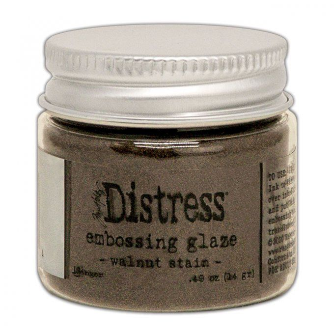 Distress Embossing glaze, Tim Holtz, couleur : Walnut stain