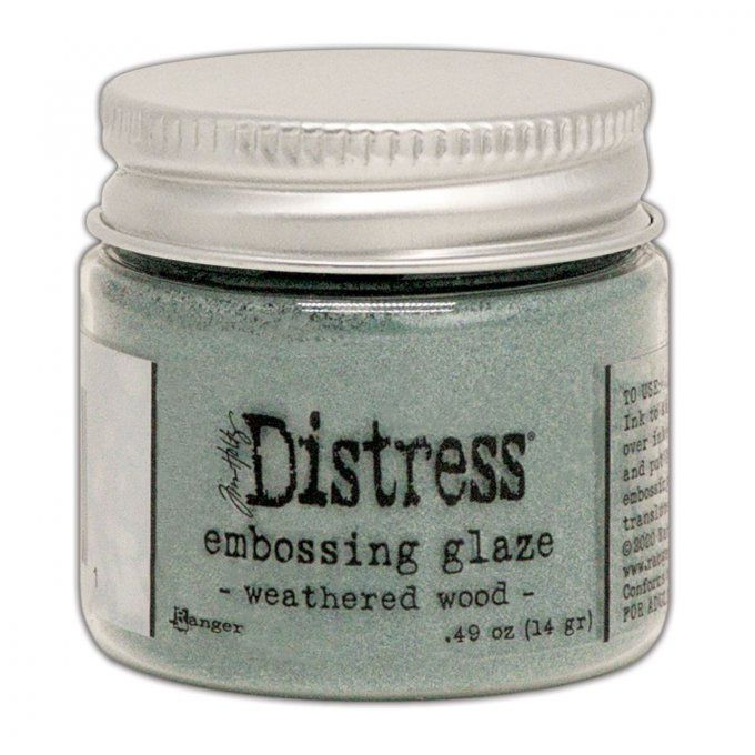 Distress Embossing glaze, Tim Holtz, couleur : Weathered wood